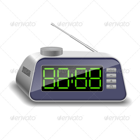 Electronic Clock - Man-made Objects Objects