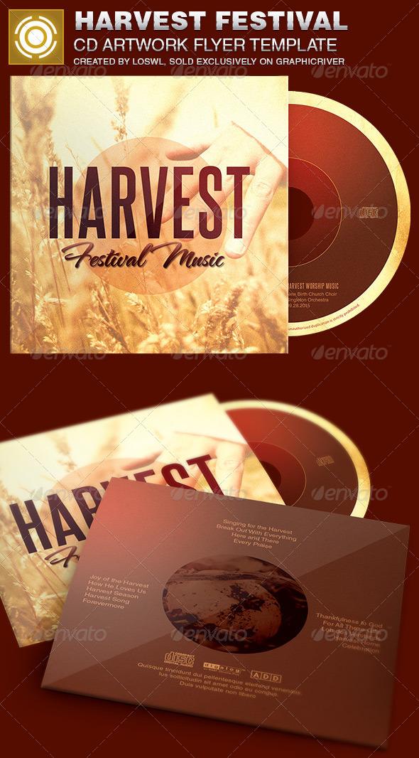 Harvest Festival CD Artwork Template - CD & DVD Artwork Print Templates