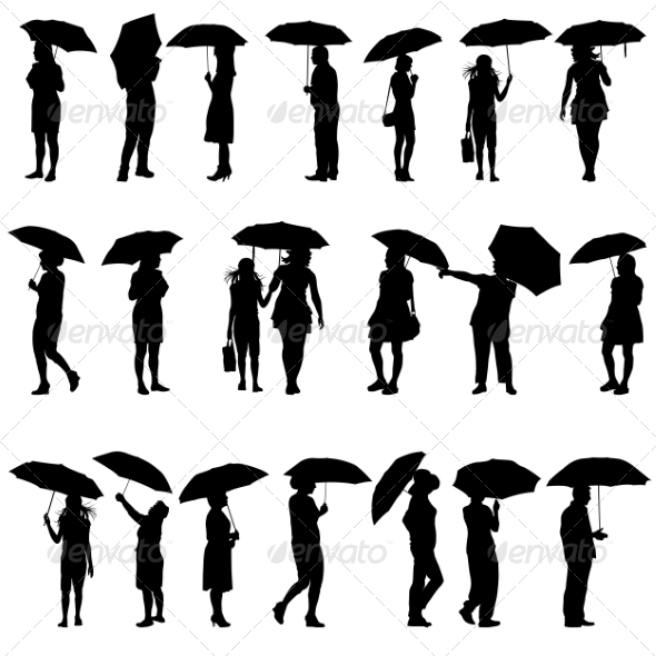 Silhouettes - People Characters