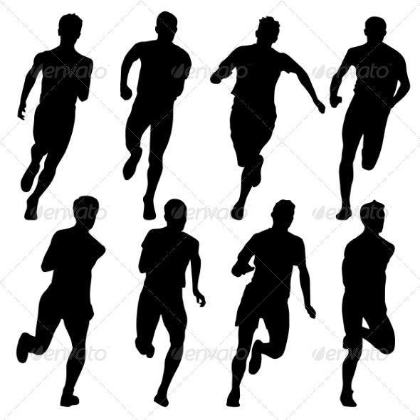 Runners Sillhouettes - People Characters