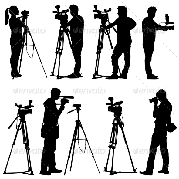 Camera Silhouettes - People Characters