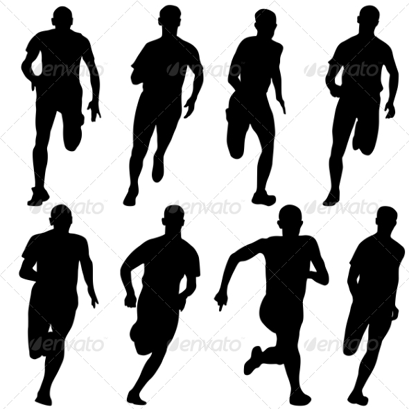 Runners Silhouettes - People Characters