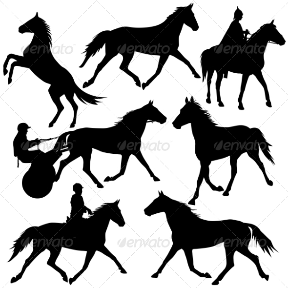 Horse Silhouettes - Animals Characters