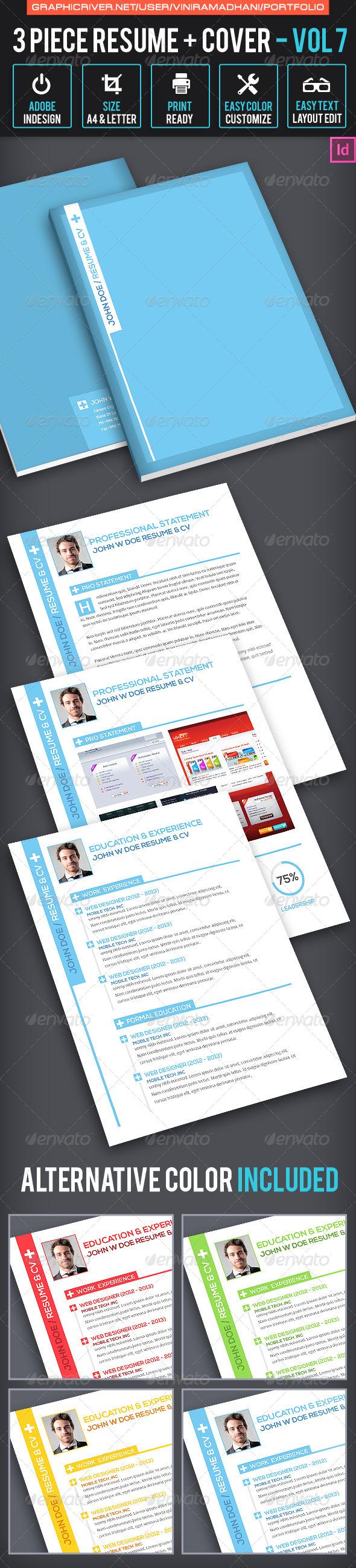 Simple Resume CV Volume 7 - Resumes Stationery