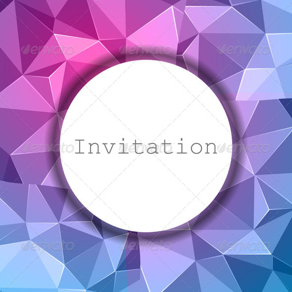 Abstract Invitation Background  - Seasons/Holidays Conceptual