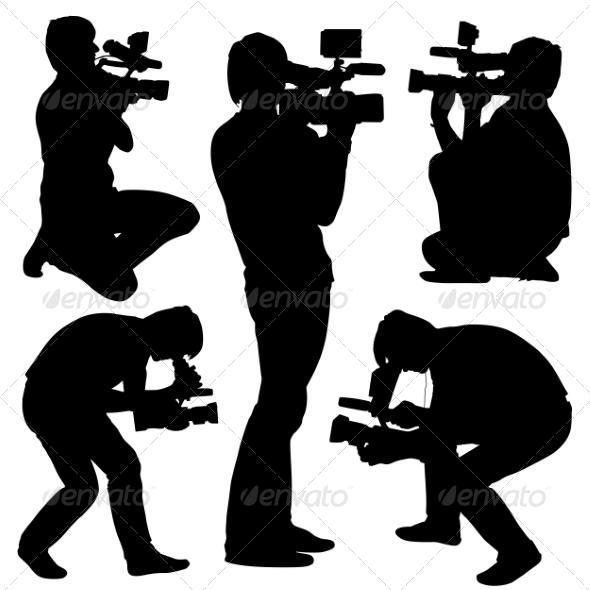 Cameraman Silhouettes - Media Technology