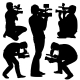Cameraman Silhouettes - GraphicRiver Item for Sale