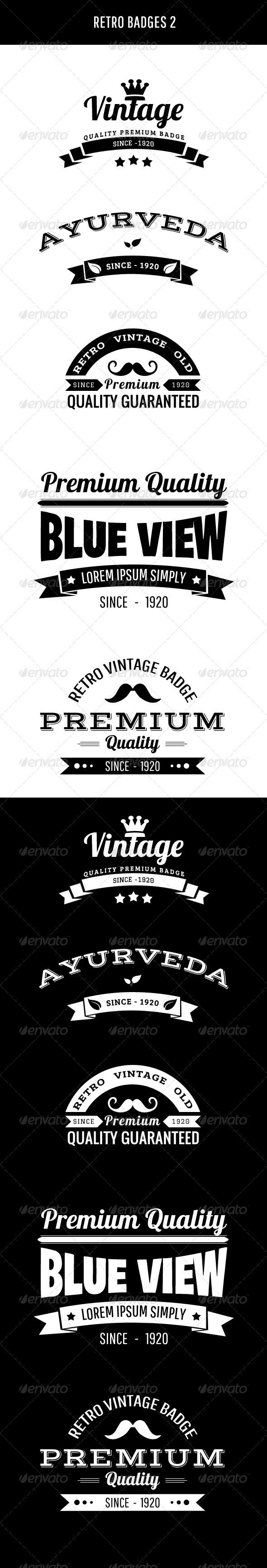 Retro Badges 2 - Badges & Stickers Web Elements