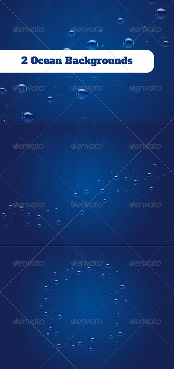2 Ocean Backgrounds - Backgrounds Decorative