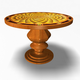 Antique Round Table 32011 - 3DOcean Item for Sale