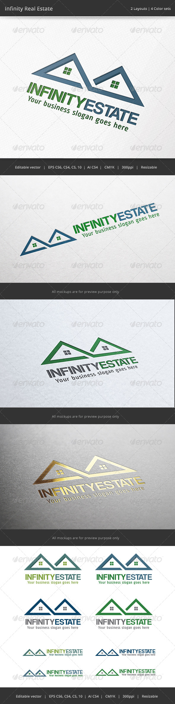 Infinity Real Estate Logo - Buildings Logo Templates