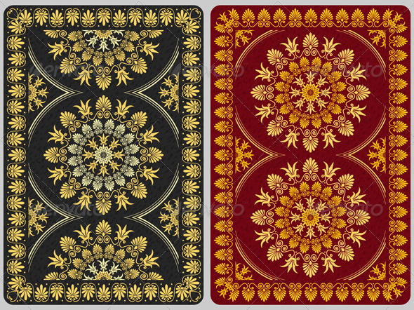 Floral Ornament Cards Background - Man-made Objects Objects
