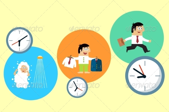 Manager Starting his Busy Workday - Concepts Business