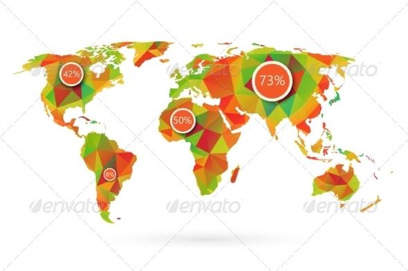 Polygonal World Map - Abstract Conceptual