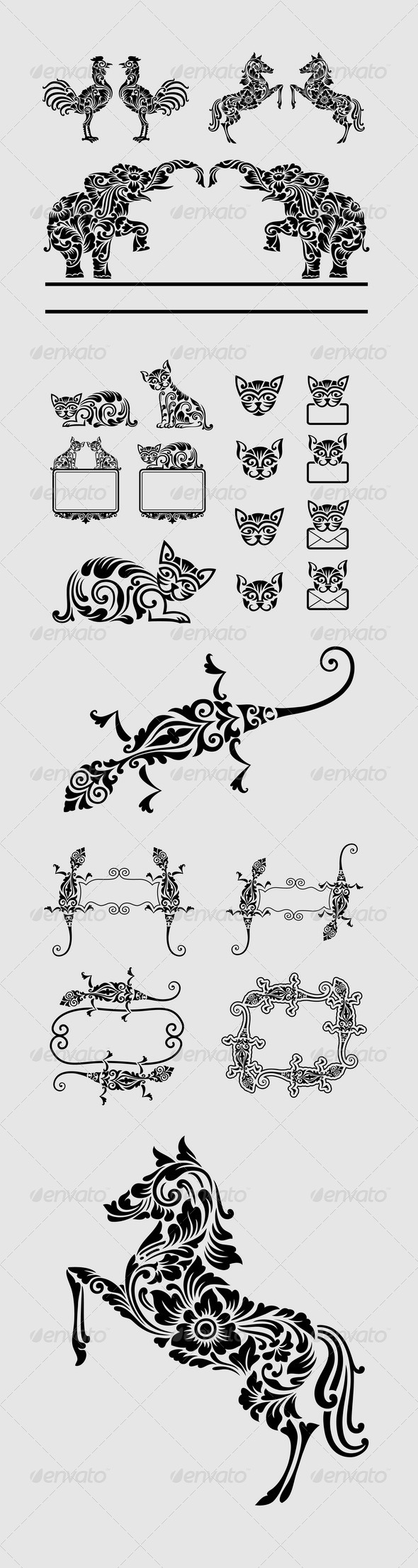 Animal Floral Ornament Decorations