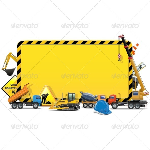 Vector Construction Board - Industries Business