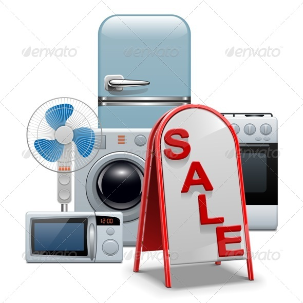 Vector Household Appliances Sale - Commercial / Shopping Conceptual