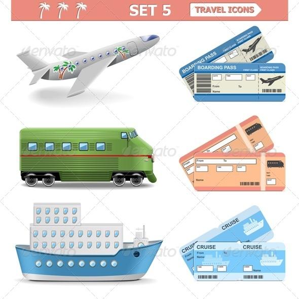 Vector Travel Icons Set 5 - Travel Conceptual