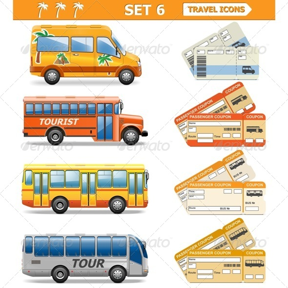 Vector Travel Icons Set 6 - Travel Conceptual