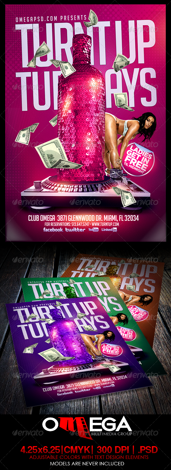 Turnt Up Tuesdays - Events Flyers