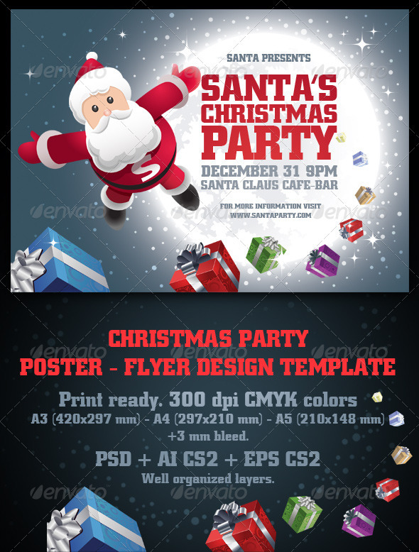 Christmas Party Poster Ideas Part - 46: Merry Christmas And Happy New Year 2018