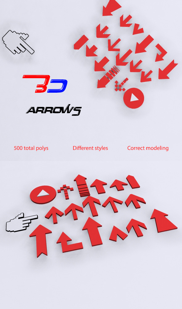 3D arrows - 3DOcean Item for Sale