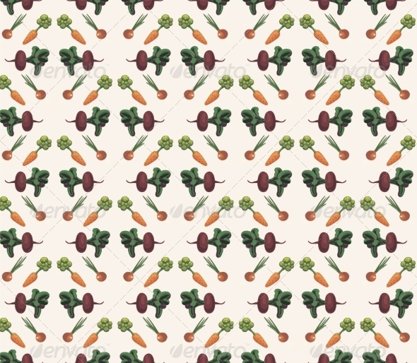 Vegetable Pattern - Backgrounds Decorative