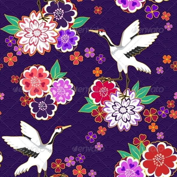 Decorative Kimono Pattern - Patterns Decorative