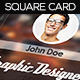 Square Designer Business Card with QR Code - GraphicRiver Item for Sale