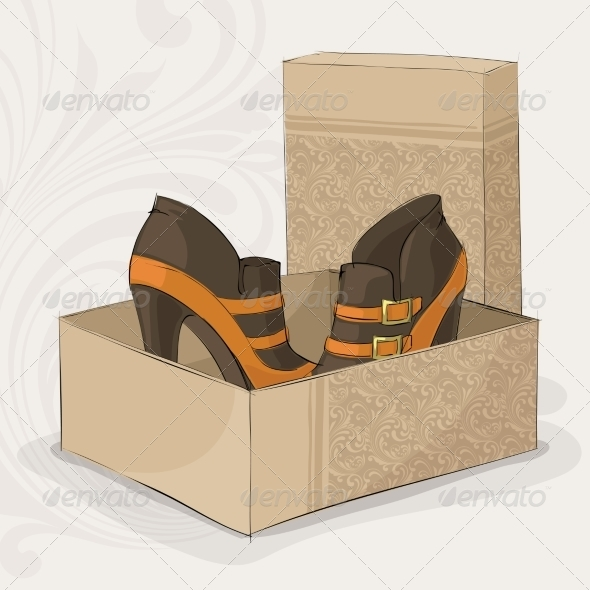 Elegant Girl's Brown and Yellow Ankle Boots - Retail Commercial / Shopping