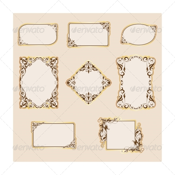 Set of Template Frames and Borders - Borders Decorative