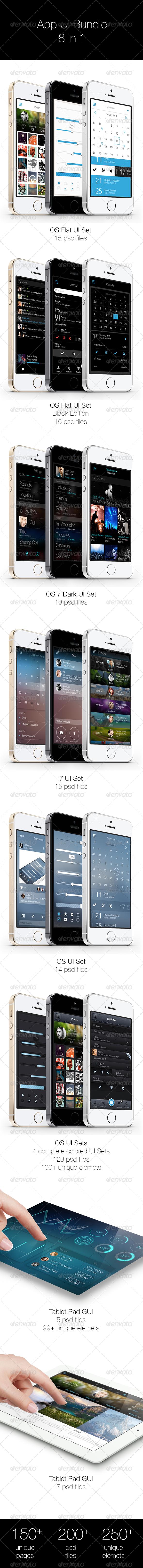 App UI Bundle 8 in 1 - User Interfaces Web Elements
