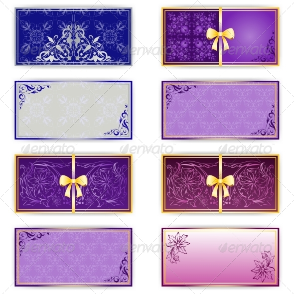 Set of Luxury Templates for Greeting Card - Backgrounds Decorative