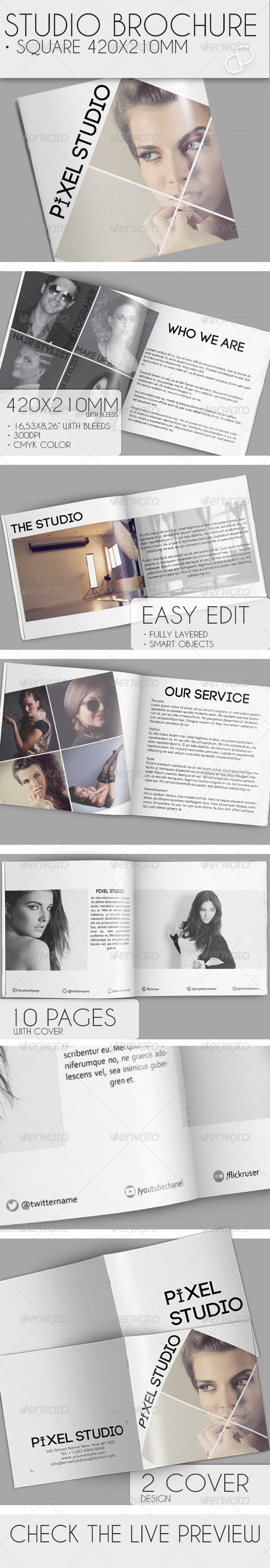 Studio Brochure - Square - Brochures Print Templates