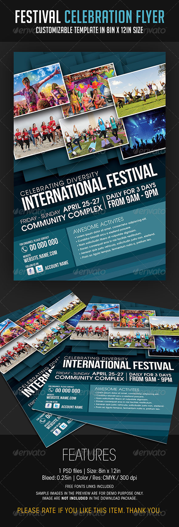 Festival Celebration Flyer - Events Flyers