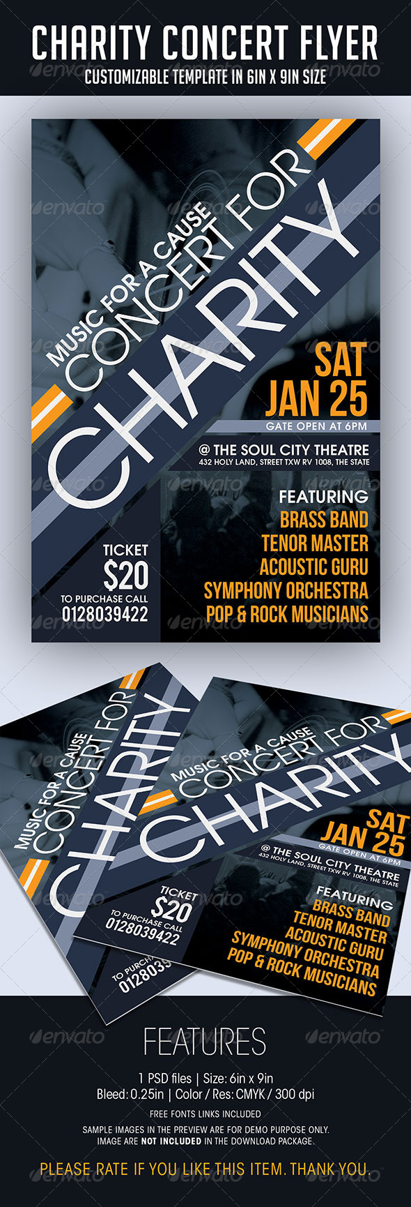 Charity Concert Flyer - Concerts Events