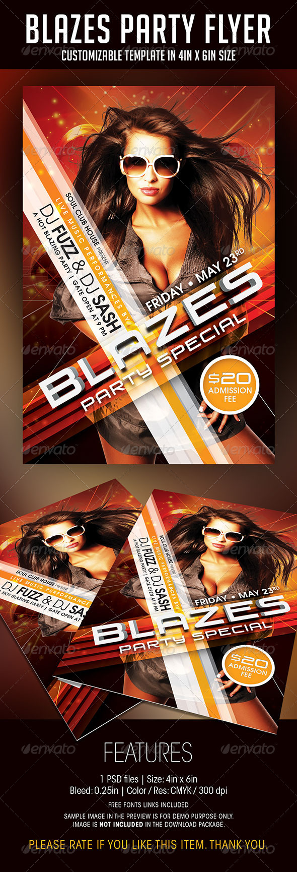 Blazes Party Flyer - Clubs & Parties Events