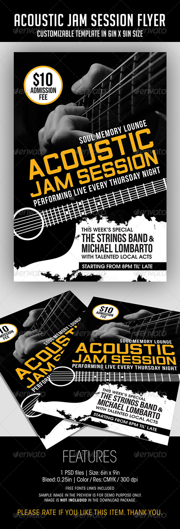 Acoustic Jam Session Flyer - Concerts Events
