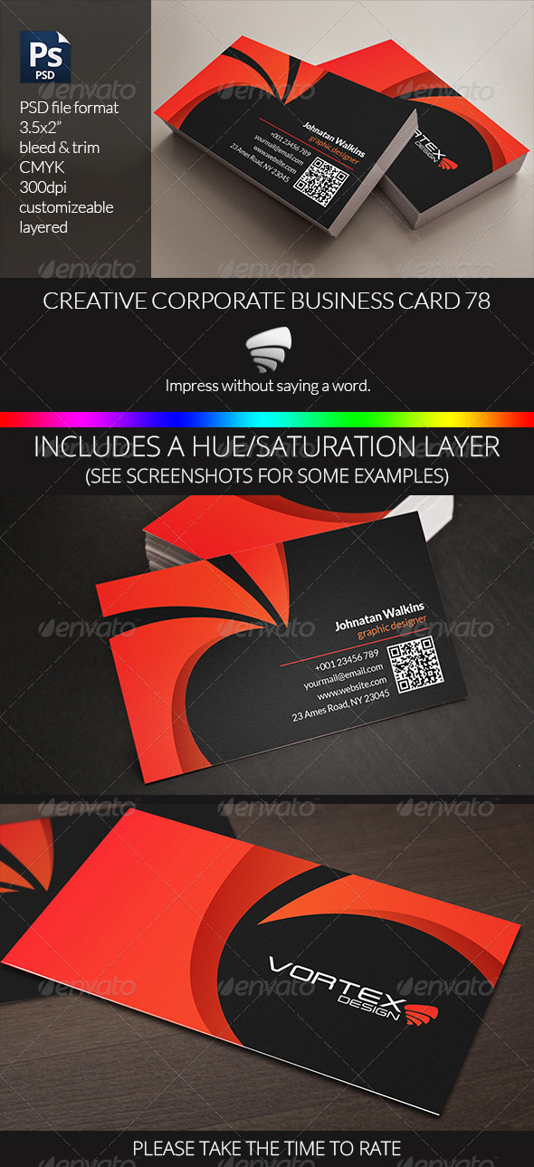 Creative Corporate Business Card 78 - Business Cards Print Templates