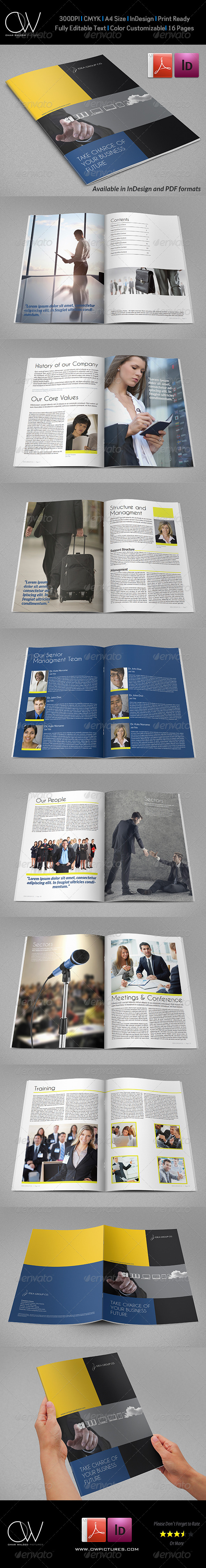 Corporate Brochure Template Vol.26 - 16 Pages - Corporate Brochures