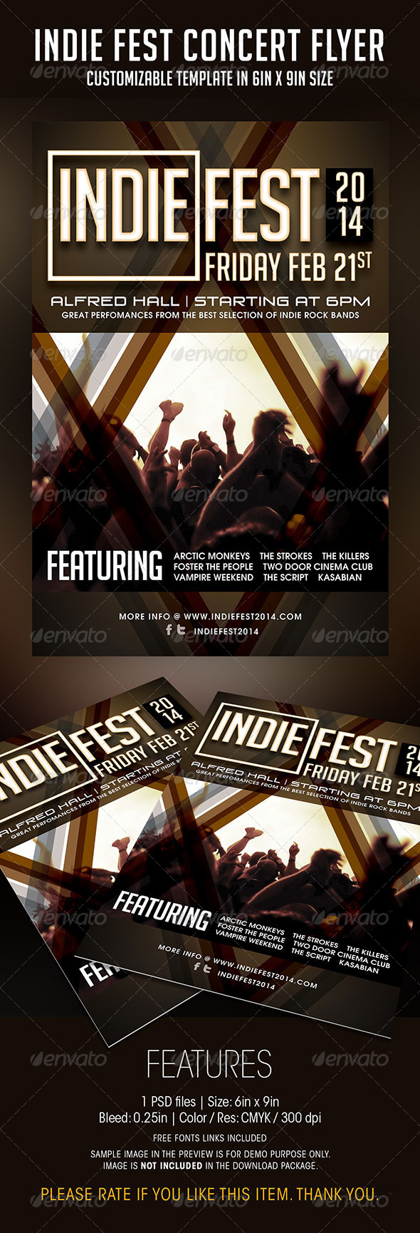 Indie Fest Concert Flyer - Concerts Events