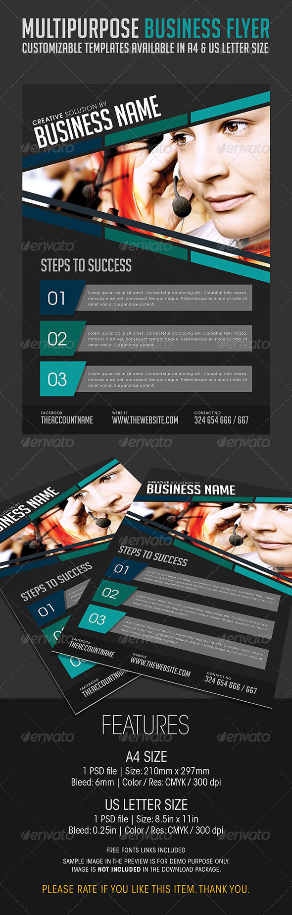 Multipurpose Business Flyer 02 - Corporate Flyers
