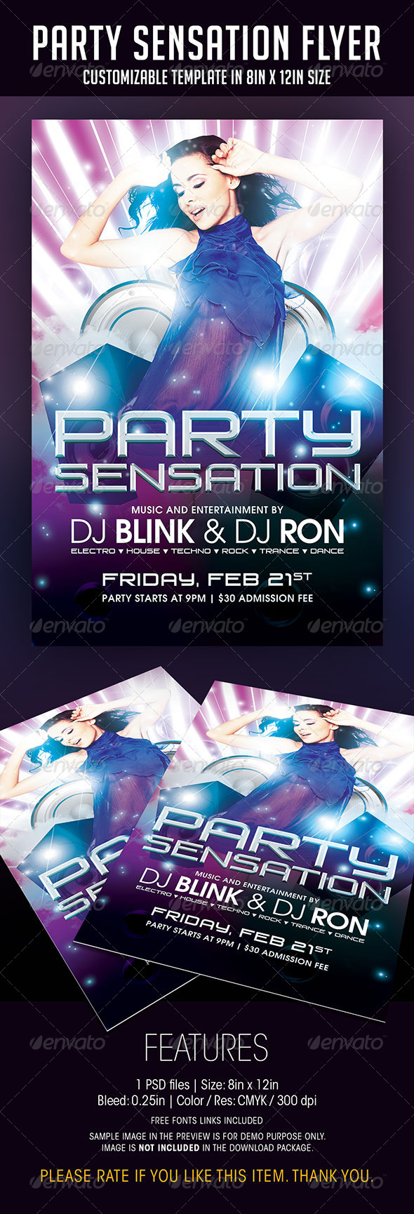 Party Sensation Flyer - Clubs & Parties Events