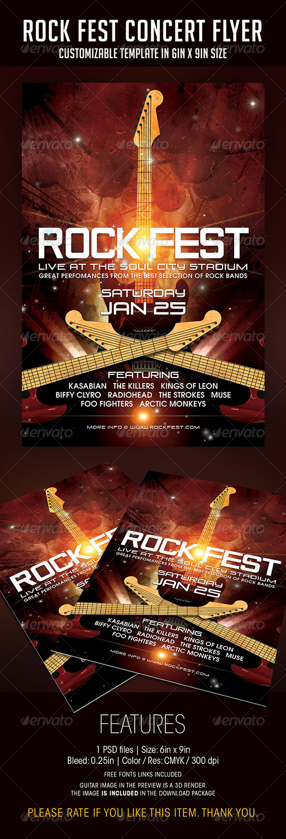 Rock Fest Concert Flyer - Concerts Events