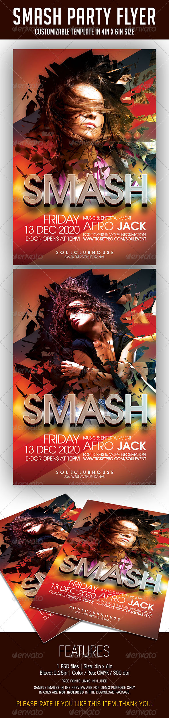 Smash Party Flyer - Clubs & Parties Events