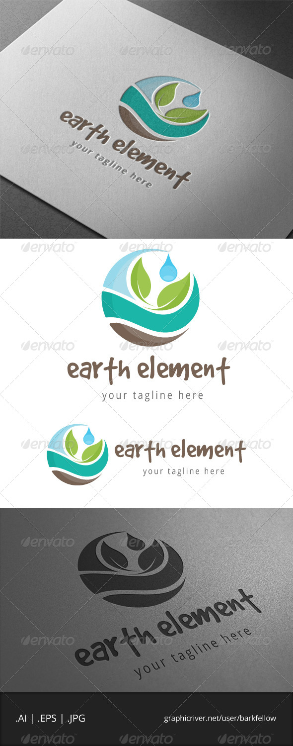 Earth Nature Element Logo - Nature Logo Templates