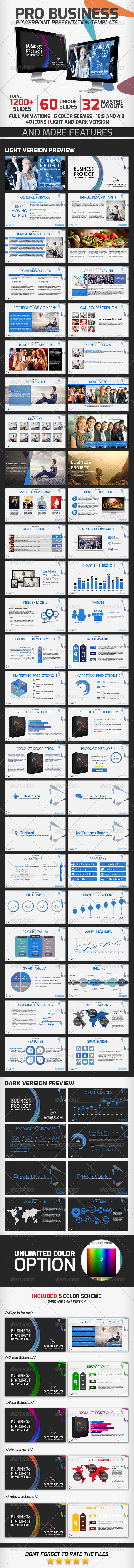 Pro Business PowerPoint Presentation Template - Business PowerPoint Templates