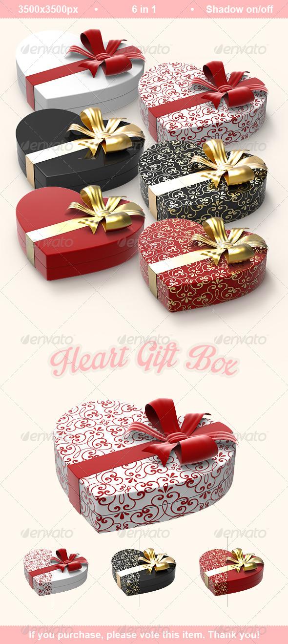 Heart Gift Box - Objects 3D Renders