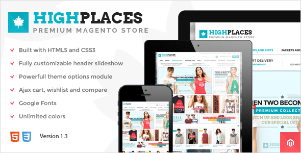 Highplaces – Responsive & Retina Magento Theme