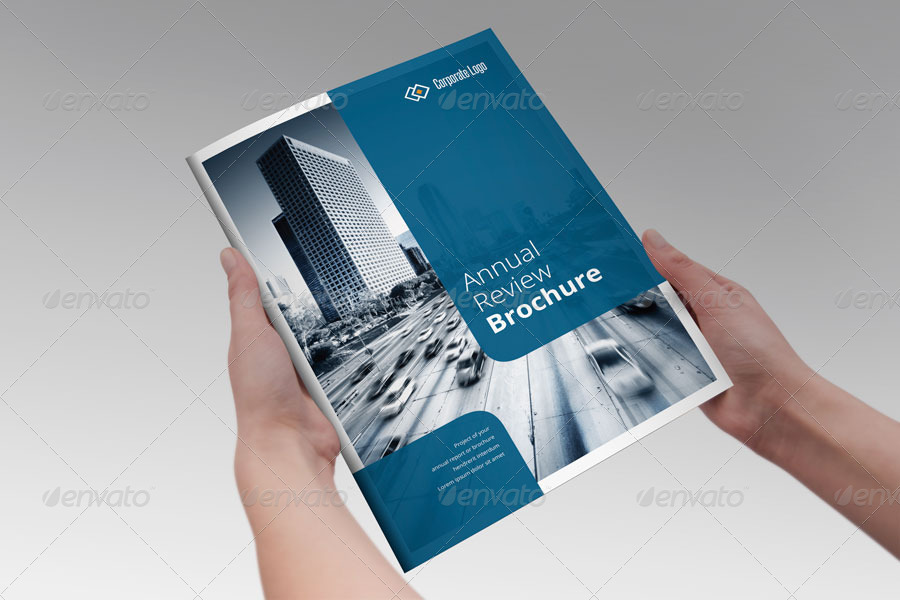 Annual Report Brochure Indesign Template By Braxas  Graphicriver